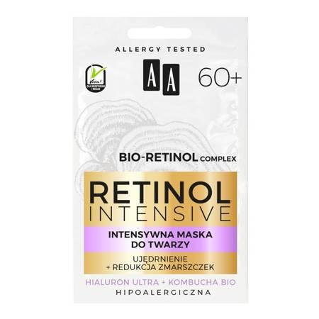AA Retinol 60+ Maska do twarzy ujędrnienie+redukcja zmarszczek 2x5ml