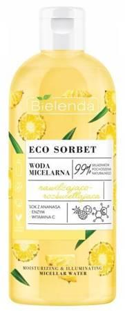Bielenda Eco Sorbet Ananas Woda micelarna nawilżająco-rozświetlająca 500ml